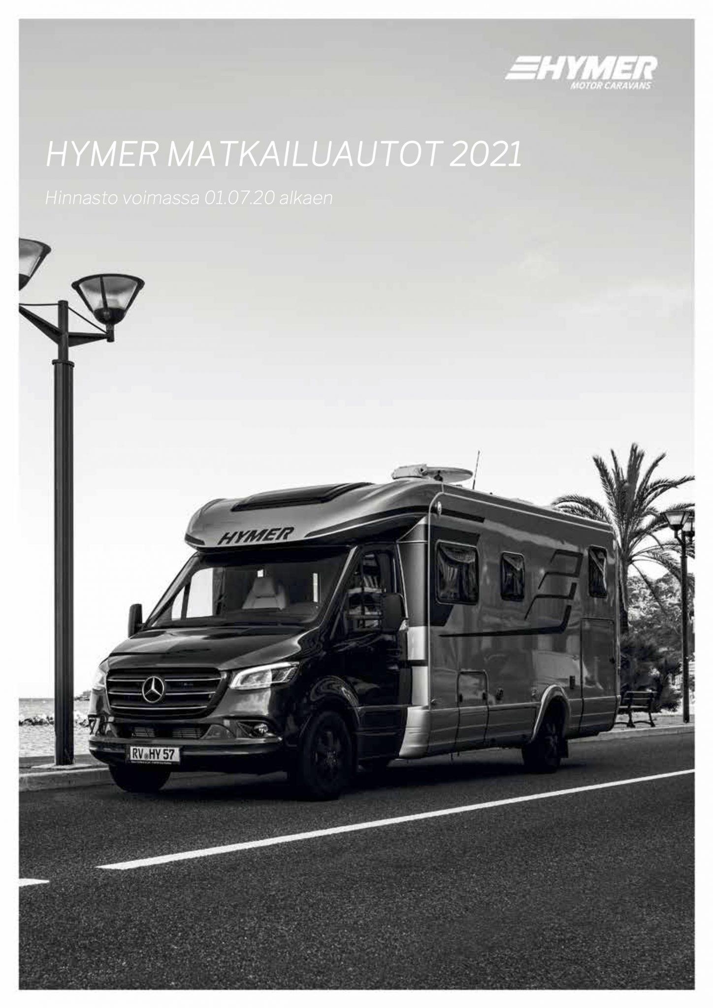 Hymer-matkailuautot 2021